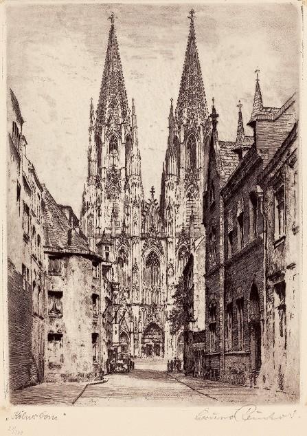 科隆市立博物馆之科隆大教堂刻板画.jpg